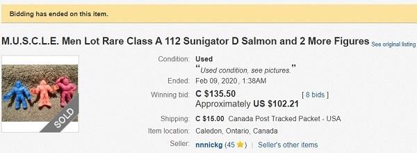 Class A Final Price