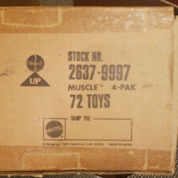 Mattel M.U.S.C.L.E. Figure Box