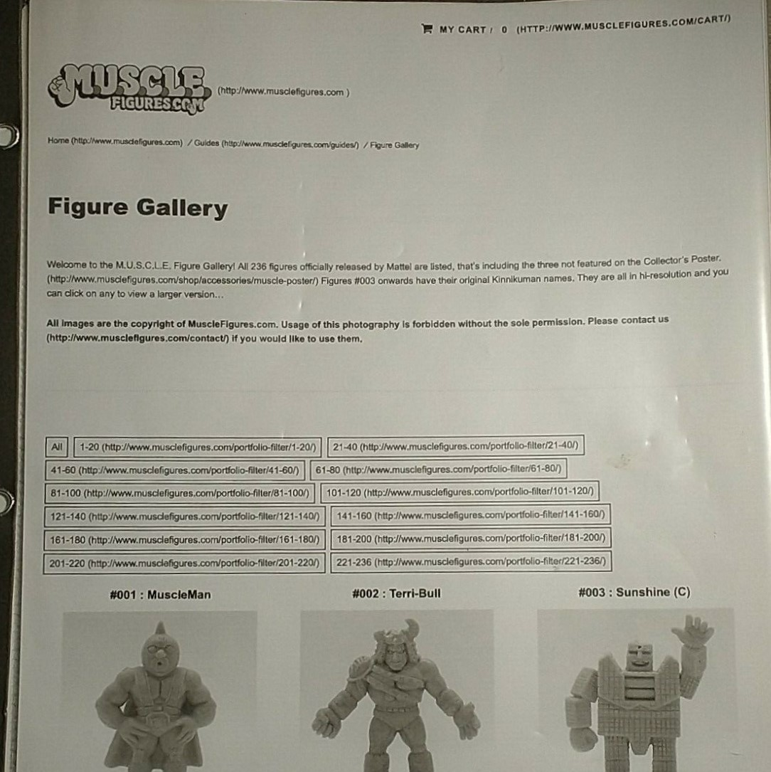 M.U.S.C.L.E. Figure Guide Printout